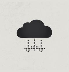 arrows down rain concept vector image