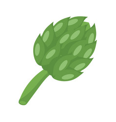 Artichoke vegetable icon flat detail style vector