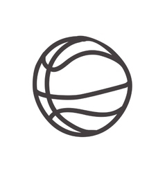 Basketball ball icon sketch design vector