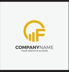 Business logo financial initial cf vector