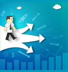 Businessman makes decision vector