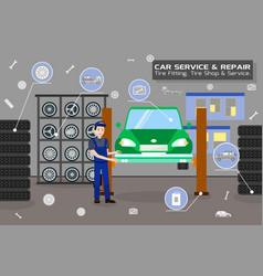 car service and repair flat vector image