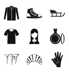Casual clothing icon set simple style vector