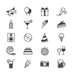 Celebration Party Icons Line vector