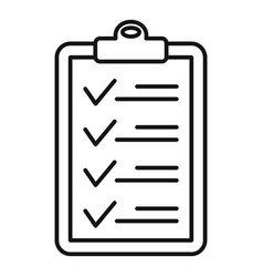 Check list icon outline style vector