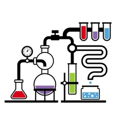 Chemistry Laboratory Infographic Set 3 vector image