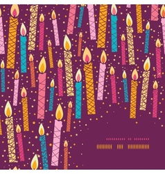 Colorful birthday candles corner frame background vector