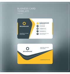 Corporate Business Card Print Template Personal vector