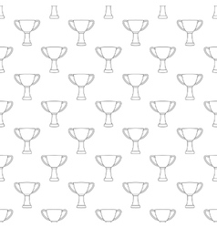 Cup pattern seamless vector image