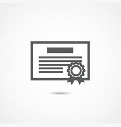 debenture icon on white vector image