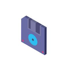 Digital diskette isometric icon design vector