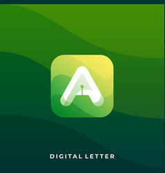 Digital media icon application template vector