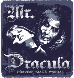 dracula sucks up vector image