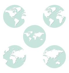 Earth globes set vector image