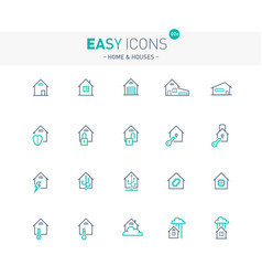 easy icons 02e home and houses and manage vector image