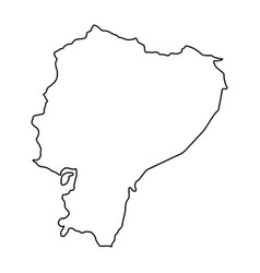 ecuador map of black contour curves of vector image
