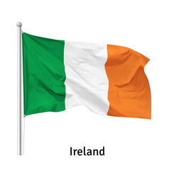 flag republic ireland vector image
