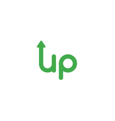 flat design concept of up word with arrow moving vector image
