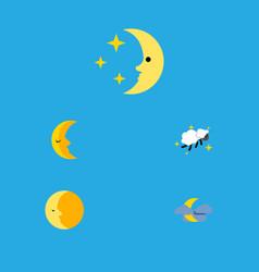 flat icon midnight set of midnight lunar moon vector image
