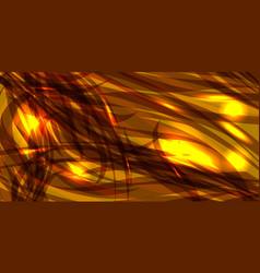 glowing golden background of black metallic lines vector image