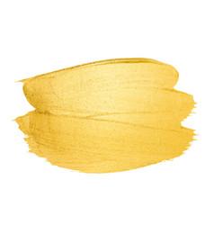 Golden brush stroke for you amazing design vector