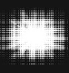 halftone sun-ray background vector image