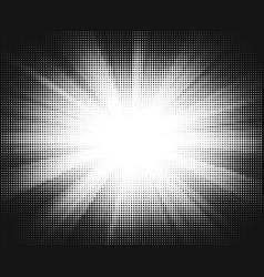 Halftone sun-ray background vector