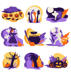 halloween autumn celebration holiday zombies vector image