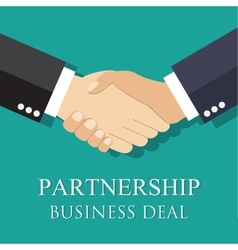 handshake businessman agreement vector image