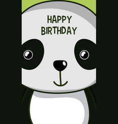 Happy birthday to you panda cartoon vector