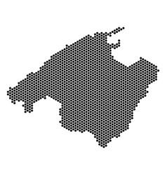 Hexagonal spain mallorca island map vector
