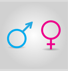 icons of male and female symbols isolated on grey vector image