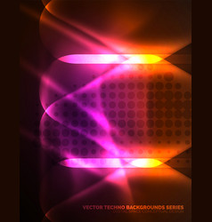 Illuminated lens flares glowing color techno vector