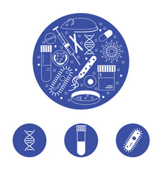 Immunology research icons vector