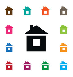 Isolated build icon residence element can vector