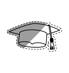 Isolated graduation hat vector image