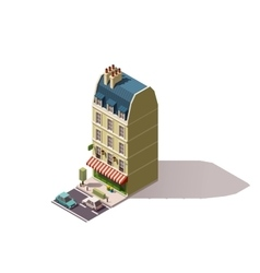 isometric Paris building vector image