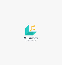 logo music box gradient colorful style vector image