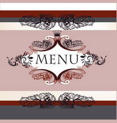 luxury menu design in vintage style with banner vector image