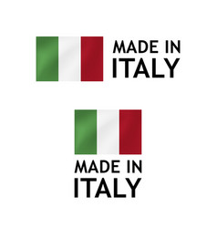 made in italy label tag template vector image