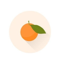 mandarin flat icon chinese symbol abundance vector image