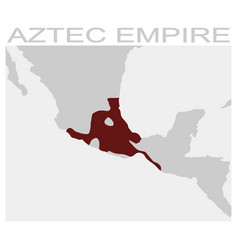 map of the aztec empire vector image