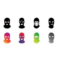 Masks criminals bandits and mafia vector