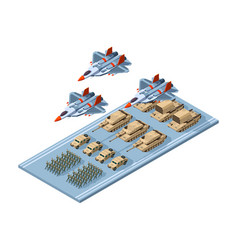 military parade army armor combat uniform vector image
