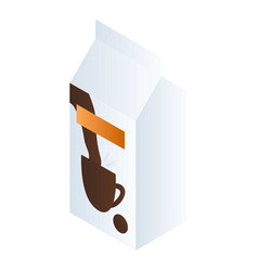 milk for coffee package icon isometric style vector image