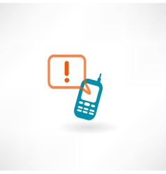 Mobile icon and message icon vector image