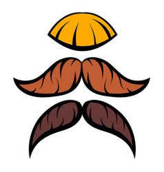 mustache icon cartoon vector image