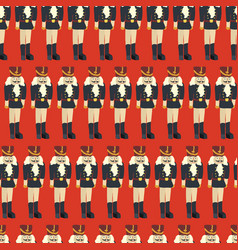 nutcracker seamless christmas pattern tile vector image