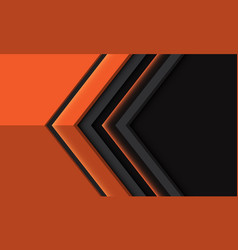 Orange arrow direction geometric on grey vector