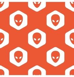 Orange hexagon alien pattern vector
